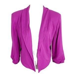 Decree fuchsia crop open blazer XL